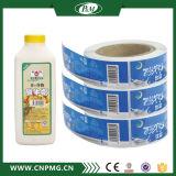 Étiquette adhésive estampée imperméable à l'eau de roulis