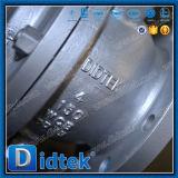 Válvula de esfera pneumática assentada do eixo do incêndio de Didtek metal seguro