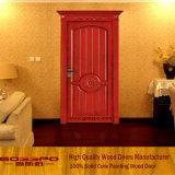 Puerta principal de talla de la puerta de madera sólida de Customerized sola (XS2-011)