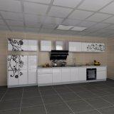 Alto armadio da cucina lucido UV moderno
