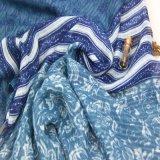 De marineblauwe Azo Vrije Sjaal van de Voile van de Polyester voor de Toebehoren van de Manier van Vrouwen
