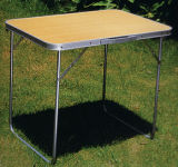 Table de camping de pliage en alliage en aluminium