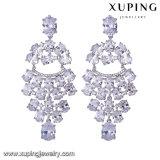 Pendiente de lujo de la joyería del rodio de lujo de 94584 maneras para la boda o el partido