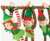 Het Stuk speelgoed van het Elf van de Pluche van het Stuk speelgoed van de Decoratie van Kerstmis van de douane