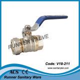 De alta calidad de latón válvula de bola con compresión Ends (V18-212)