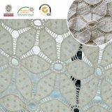 Nouveau motif fleur 3D tissu en dentelle chimique pour le vêtement