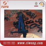 アクリルの手段のナンバープレートのレタリング、プラスチックは文字に番号を付ける