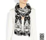 Sjaal van de Wol van de manier de Kleurrijke Afgedrukte Langwerpige met Rand