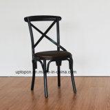 Мягкая черным крестом назад ресторан стул металлический (SP-MC080)