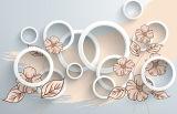 3D 아름다운 배경 벽에 의하여 윤이 나는 도와 (VPA6A501)