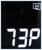 엘리베이터 Stn LCD 디스플레이 세그먼트 파란 LED 역광선