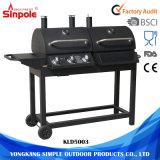 Griglie inossidabili esterne all'ingrosso del BBQ del gas del carbone di legna con il fumatore del BBQ