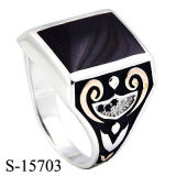 Nuovo modello di disegni 925 dell'argento sterlina degli anelli piacevoli degli uomini