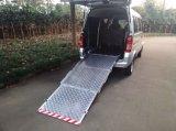 Rampe de chargement en fauteuil roulant pour Van plate-forme en aluminium