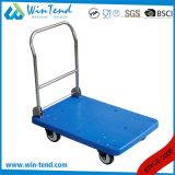 Chariot lourd en plastique d'utilitaire de poussée de cargaison de 2 rangées