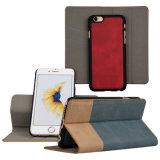 iPhone 6s аргументы за задней стороны обложки отделяемой раковины шлица владельца карточки Flip Folio бумажника PU кожаный защитной магнитное тонкое