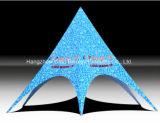 Sinbgle Pôle/double tente faite sur commande d'usager d'ombre d'étoile de logo de Pôles