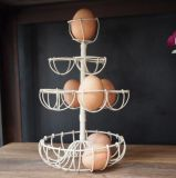 Crémaillère artistique de support d'oeufs en métal
