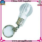 Porte-clés LED avec couleur arc-en-ciel pour porte-clés ampoule