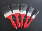 Embalagem de madeira vermelha do jogo de escova da pintura do punho