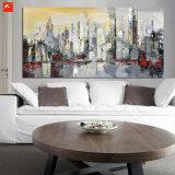Het abstracte Olieverfschilderij van de Architectuur