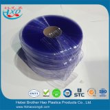 Deur van het Gordijn van pvc van het Glas van de lage Temperatuur de Flexibele Duidelijke Blauwe Geribbelde