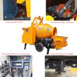 Remolque Mini eléctrico de la bomba de concreto con el tambor Mezclador para la venta
