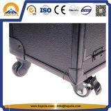 예술가 다기능 화장품 트롤리 트레인 상자 검정 (HB-6407)