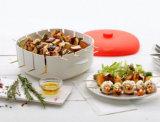 Коробка Brochette микроволны силикона качества еды пластичная