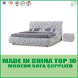 現代ホーム家具の革寝室のダブル・ベッド