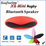 Mini-X6 Rugby Colunas Bluetooth com TF/reprodução USB (XH-PS-626S)