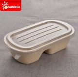 Boîte de nourriture à la pâte à la paille à la paille à la paille avec couvercle en plastique