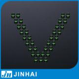 (t) bille en verre verte de qualité de constructeur de 5mm pour la décoration