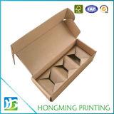 Caja de Kraft marrón con compartimentos de cartón