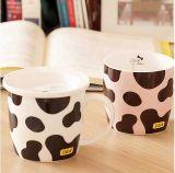 Taza de café de cerámica linda de los pares de la alta calidad con el rectángulo de regalo