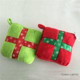 Juguetes rellenos cuadrado de la felpa del perro del sonido de la almohadilla de los accesorios del animal doméstico de la Navidad