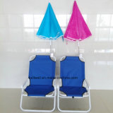 Hot Style Beach Sun Loungers Haute qualité Folding Chair Clip Umbrella
