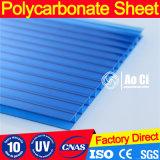 Folha de policarbonato protegido contra UV para construção