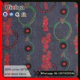 Tessuto 100% del Jean della stampa di cotone del tessuto del denim della stampa di modo