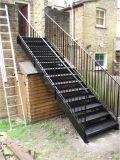 Edelstahl-gerades Treppenhaus mit rostfreiem Jobstepp
