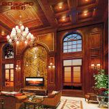 Panneau de mur en bois sculpté Luxry de style classique (GSP9-080)