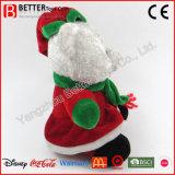 Juguete suave relleno abrazo de la Navidad de la felpa del oso del peluche de los cabritos