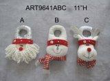 """14 """"Hx8"""" L Santa, muñeco de nieve y decoración de la Navidad de los alces Manija de puerta"""
