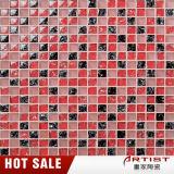 Kristallknistern-rote und schwarze Glasmosaik-Fliese für Wand-Dekoration