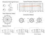 Diameter 4.5mm MiniMicrofoon met Spelden Dgo4522dd-P2c