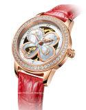 Автоматический wristwatch повелительниц клевера листьев диаманта 4