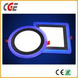 12+4Wの円形か正方形LEDの照明灯二重カラーによって引込められるLEDの天井灯