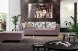 Base di sofà d'angolo con il poggiapiedi di memoria