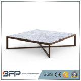 Tables basses de marbre blanches de type européen populaire pour la pièce de Dinnig
