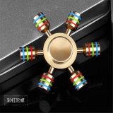 Girador da mão da cor do arco-íris da inquietação do anti brinquedo inovativo do esforço tri